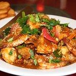 Hainanese prawns from Rock Road seafood restaurant - Kuching