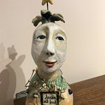 One of the many facinating pieces at the Marietta Museum of Art & Whimsey