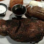 Blackened Prime Rib 12 oz.  &  Horse Radish Sauce.