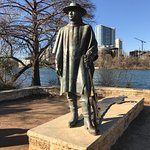 One of my heroes, Stevie Ray larger than life as always. Brass cast shadow has him playing, just