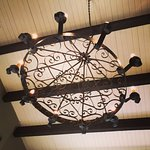 Chandelier in the lounge area of the Stockade