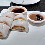 Ice cold deep fried rice rolls (supposed to be served warm)