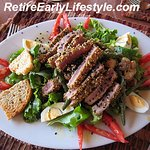 The seared Ahi tuna salad. Delicious!