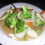 chicken and broccoli Thai style