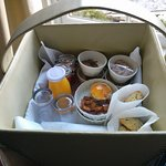 Breakfast was delivered to our door in a basket