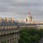 view of haussmann boulevard from our window
