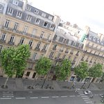 afternoon view of apartments along Haussmann