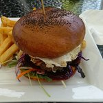 The kiwi burger, new addition to menu and its amazing, struggled to eat it all.