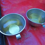 Coca tea delivered to our tent every morning by the porters. It helps with the altitude!