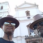 Amit Ranjan & Biplav Sarkar on the front gate of St. Cathedral Church