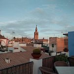 View of the Seville Cathedral from hotel roof top