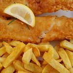 Cod and chips. Yummy!