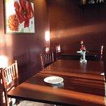 The interior of Tim Thai Restaurant is fairly serene.