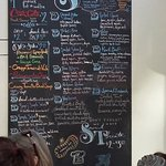 Menu board with lots of choices