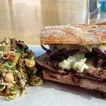 Amaziing simple salad and Roast Beef sandwich