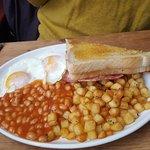 beautiful breakfast well worth the wait. we had full english breakfast, American breakfast and p