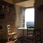 vue depuis le salon de thé Eglantine à Séguret dans le Vaucluse