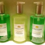 Soap and shampoo from Gilchrest and Soames: cruelty free and pump dispensers save plastic