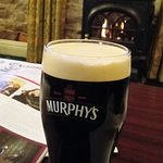 Pint of Murphy's in front of fire :)