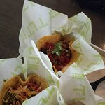 Grilled Ahi Tuna; Sweet and Spicy Steak; Pork Belly Adobo tacos