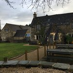 Dreary Cotswold morning, but the welcome inside made up for it
