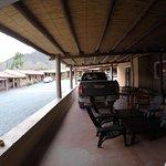 Vista da garagem