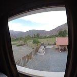 Vista do quarto, para as montanhas