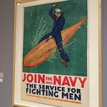 Poster from the WW1 Exhibit in the School Museum area.
