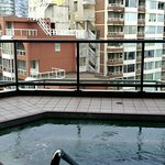 Hot tub on the 9th floor