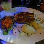 Delicious dry salmon.......