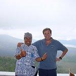 Attilio con Agus - Kintamani con vista di Lago Batur