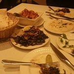Baklava, rikakat, batata harra, hindby and hummus