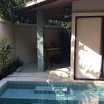 Nice pool villa, very cost, private, leaves a good impression Staff is not on the ball Location