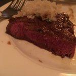 rare flatiron steak