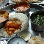 Combination: Sea Bass, Butter Chicken, Palak Paneer