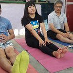 Roof top giving Yoga Classes by Somit ( Yoga Expert )