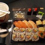 Sushi menu I with the Miso soup as Take away!