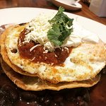 The Huevos Rancheros for breakfast. Great