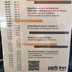 Shuttle Timetable