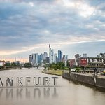 A wide angle view of Frankfurt.