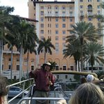 Tour Guide, Oliver entertaining us in Coral Gables, Florida