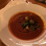 Tomato and Basil Soup - definitely not from a can ...