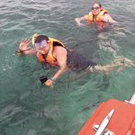 Snorkelling during the Glass Botton Boat Ride