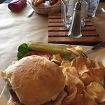 Veggie burger, fish basket