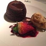 Chocolate Fondant with Honeycomb Ice Cream