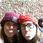 Visiting the historic Gum Wall on the food tour!