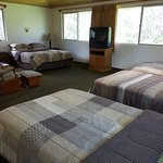 The upstairs bedroom in Caldera suite could easily sleep 7