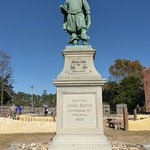 John Smith statue close-up