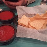 Taquitos appetizer, chips & salsa