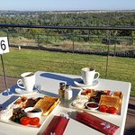 The Viewpoint Cafe's 'big breakfast' ...... with a view.
